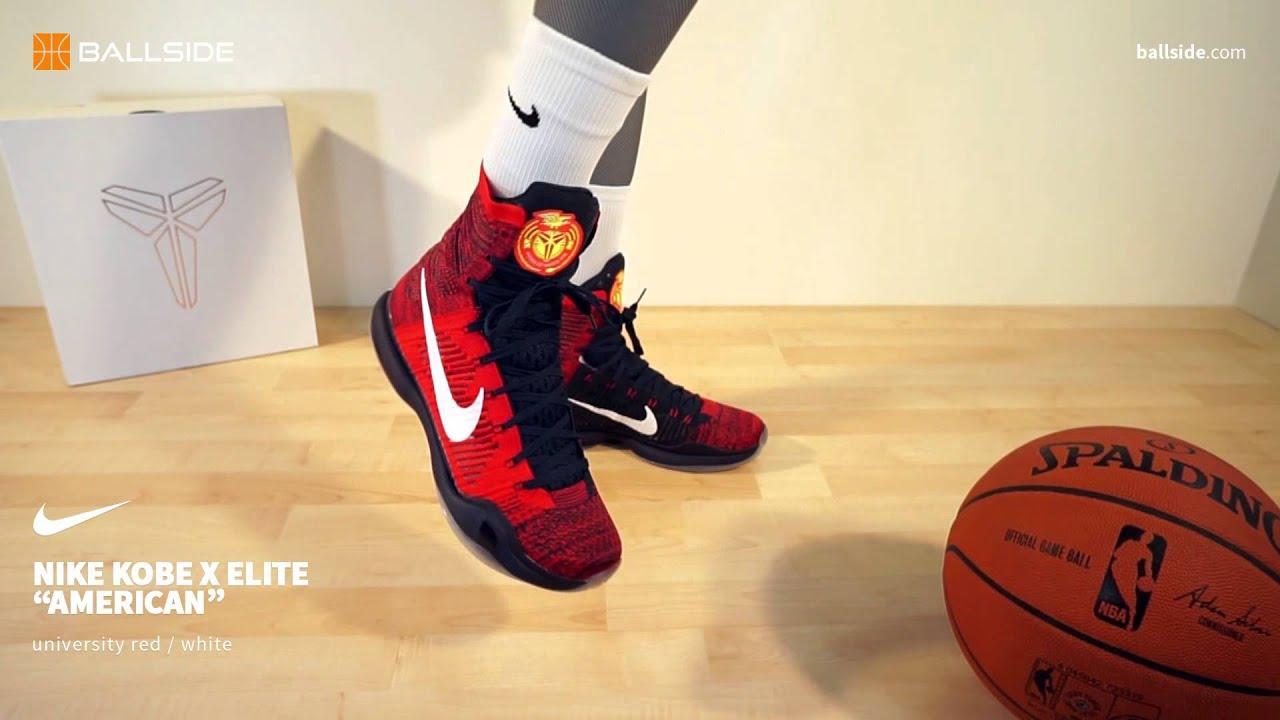 Nike Kobe X Elite American on feet