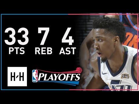 Donovan Mitchell Full Game 4 Highlights Thunder vs Jazz 2018 Playoffs - 33 Pts, 7 Reb, 4 Ast!