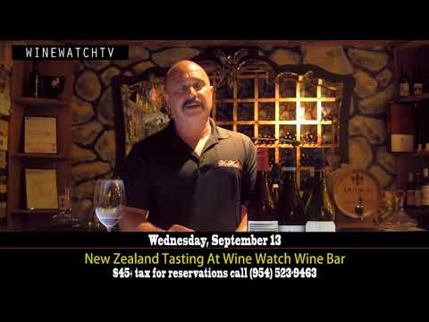 New Zealand Tasting at Wine Watch Wine Bar Wed Sept 13 - click image for video