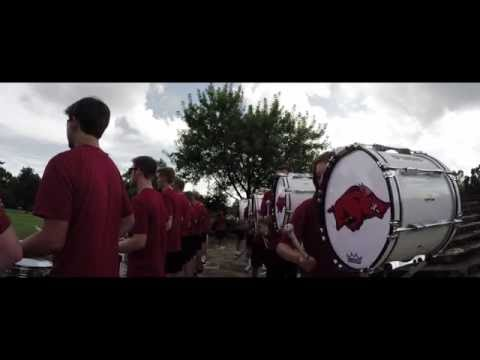 Razorback Drumline Lot Hype Trailer