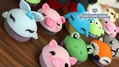 Cupcake decorating cute animals and faces tutorials