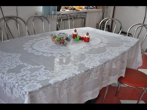 Дизайн дома.Выбор скатерти для стеклянного стола.