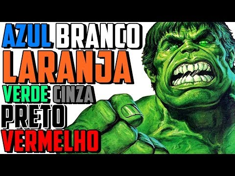 TODAS AS CORES DO HULK