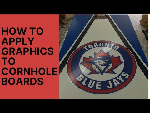 How to apply graphics to cornhole boards