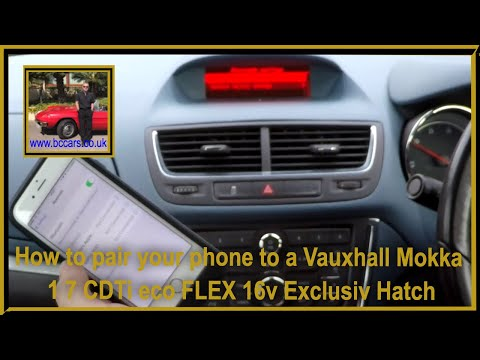how-to-pair-your-phone-to-a-vauxhall-mokka-1-7-cdti-eco-flex-16v-exclusiv-hatch-video