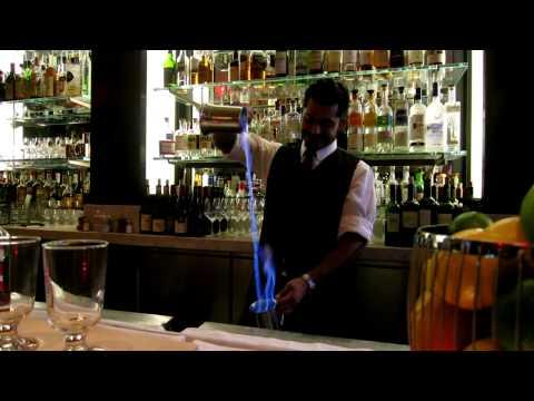 Blue Blazer cocktail at Cafe des Amis (San Francisco, CA)