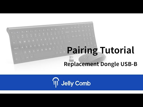 Jelly Comb Keyboard Combo Receiver Pairing Tutorial