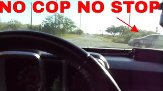 Running a STOP SIGN in front of the COPS