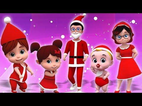 Santa Klaus Jari Keluarga | Natal Carols | Lagu Natal | Santa Finger Family | Kids Tv Indonesia