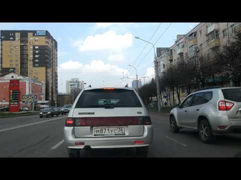 За рулем по Воронежу \ Driving in Russia Voronezh