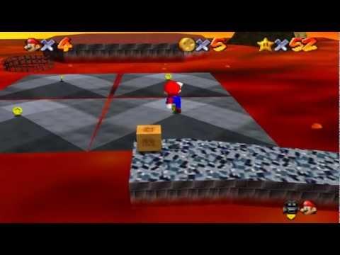 Super Mario 64 Walkthrough - Course 7 - Lethal Lava Land