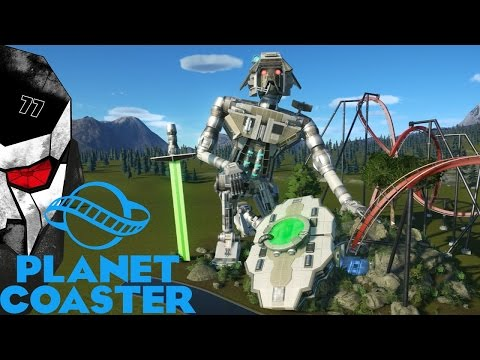 A MASTERPIECE! Robot Kinetic Sculpture! - Planet Coaster Challenge Gameplay #25