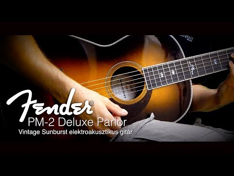 Fender PM-2 Deluxe Parlor Vintage Sunburst elektroakusztikus gitár