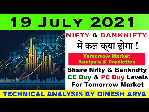 Bank Nifty U0026 Nifty Tomorrow 19 JULY 2021 Chart Analysis | Bank Nifty Option Trading Strategy Level