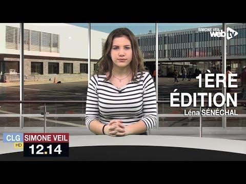 1ère édition du 12.14, le JT du collège Simone Veil