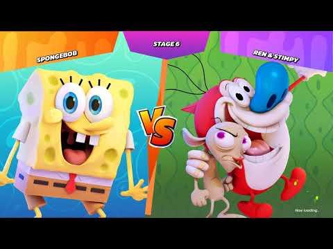 Nickelodeon All Star Brawl Gameplay (PC Game) - Sponge Bob the champion. thumbnail