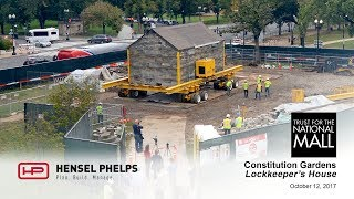 Lockkeeper's House Relocation Time-Lapse in Washington, DC