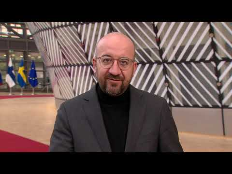 Charles Michel, President of the European Council outlines agenda topics of the EU Summit