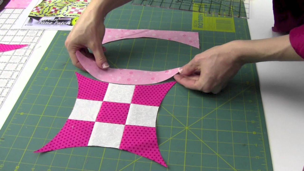 Quick Curve Ruler - Cutting, Sewing & Squaring Up Blocks - YouTube