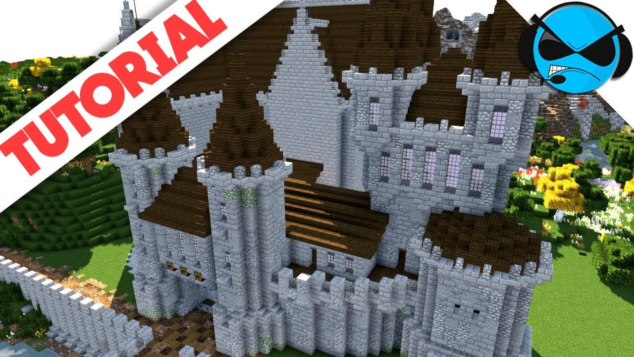 How To Build A Castle Minecraft Tutorial Medieval Castle Part 4
