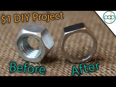 Making a Hex Nut Ring Using BASIC Tools ( DIY )