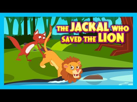THE JACKAL WHO SAVED THE LION - ENGLISH STORIES || KIDS HUT STORIES- MORAL STORIES