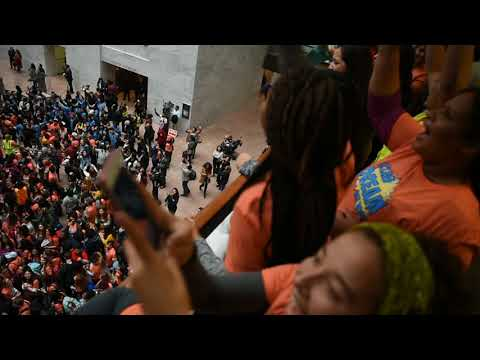 'Dream Act now:' Students lead protest inside Hart Senate office building