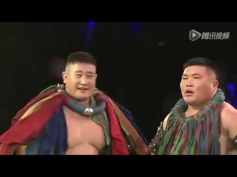 巴圖吉日嘎拉 VS 阿拉坦蘇合   Hasar Mongolian Wrestling League 2014 - 2015