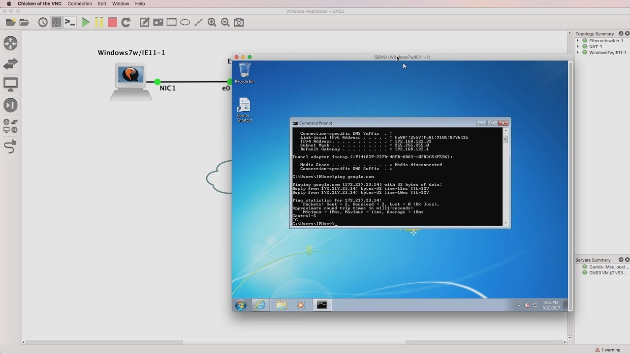 GNS3 Windows QEMU appliance now available! Run a Windows VM directly in the  GNS3 VM (Part 1)