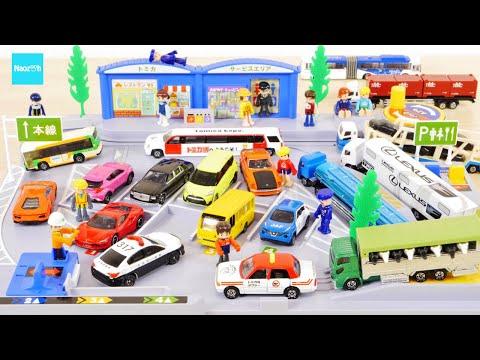 ロングトミカ対応! トミカ バックで駐車! たのしいサービスエリア / Tomica World Highway truck stop
