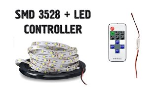 Светодиодная лента SMD 3528 + LED CONTROLLER + сравнение с 5630. Aliexpress(Распаковка, обзор и небольшое испытание светодиодной ленты SMD 3528 + LED CONTROLLER из Китая Лента куплена тут: http://ali..., 2016-04-11T17:15:52.000Z)