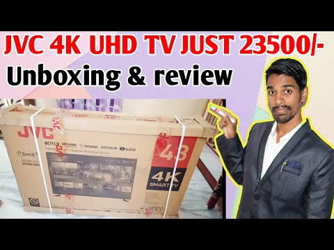 JVC 4K UHD tv unboxing and review📺👍🔥💰