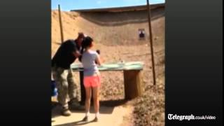 Girl, 9, accidentally kills gun instructor with Uzi (fatal shot not shown)