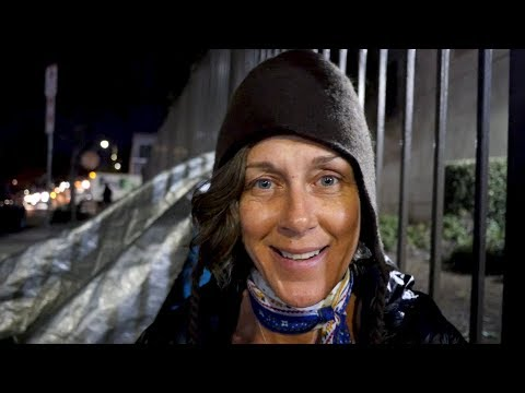 Lisa Is Homeless In Venice Beach, California. Rats Run Into The Bushes During This Interview.
