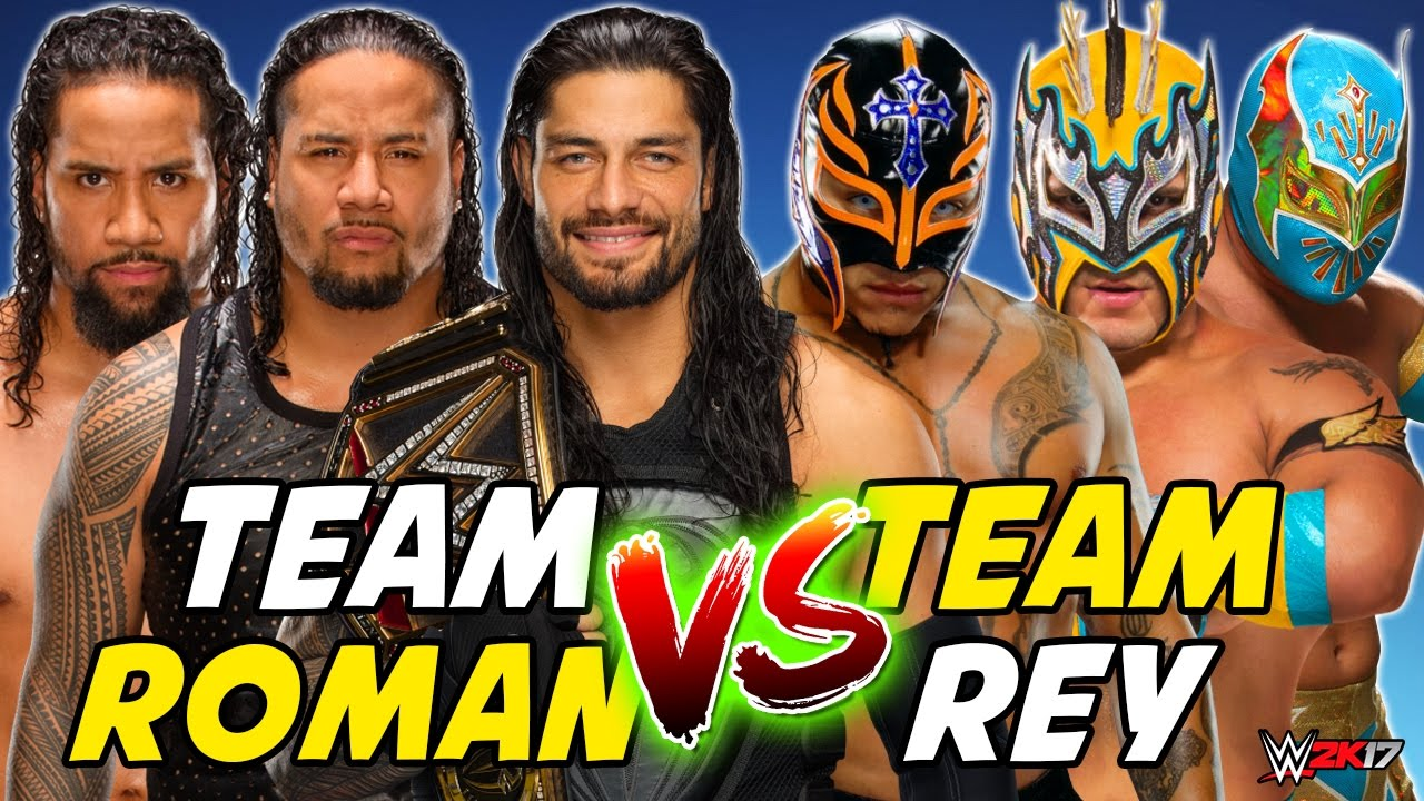 Lucha Libre Youtube Rey Mysterio Lucha Dragons Vs Roman Reigns The Usos