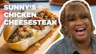 Sunny Anderson Makes a Chicken Cheesesteak | Food Network