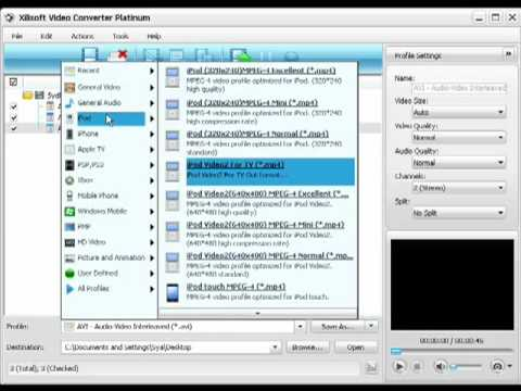 how to use xilisoft video converter