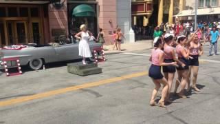 Marilyn Monroe and the Diamond Bellas at Universal Studios Orlando