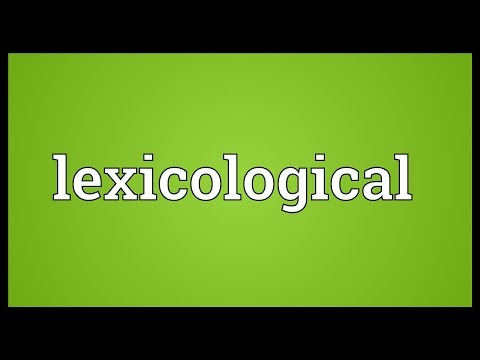 Header of lexicological