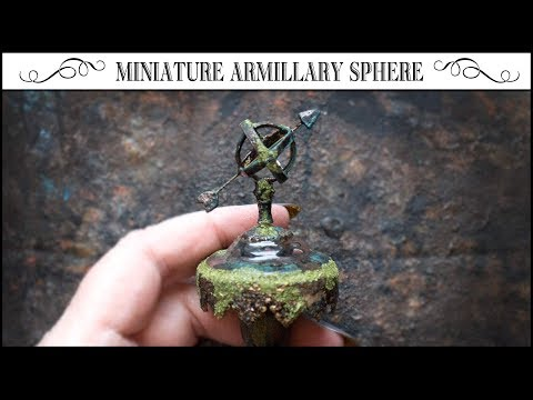 ⚜How to Build a Miniature Armillary Sphere from Paper!⚜