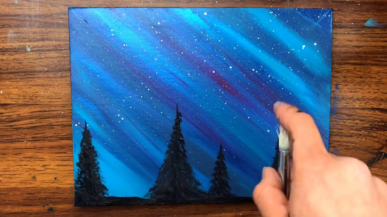 Easy Acrylic Painting Ideas For Beginners On Canvas Youtube