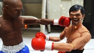 boxing stop motion pacquiao vs mayweather 拳王爭霸戰