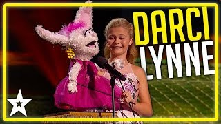 Champion Ventriloquist Of The World Darci Lynne on AGT (All Performances) | Kids Got Talent
