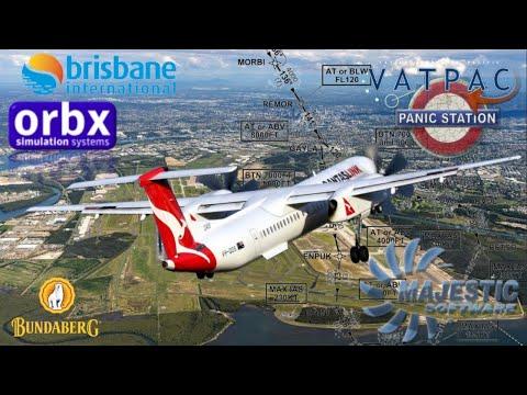 Vatpac Panic Stations. Majestic Q400 & Orbx Brisbane