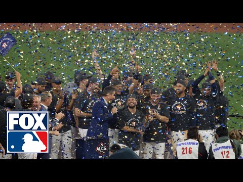 The Houston Astros celebrate 2019 American League Pennant, Altuve named MVP | FOX MLB