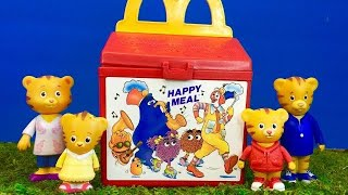 McDonalds Happy Meal Toy with DANIEL TIGER TOYS Learning HEALTHY EATING!