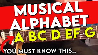 How To Play Guitar - The Guitar Notes Of The Musical Alphabet on The Guitar Fretboard