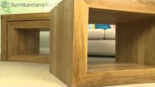 Nero Solid Oak 3 Cube Nest Of Tables From Oak Furniture Land