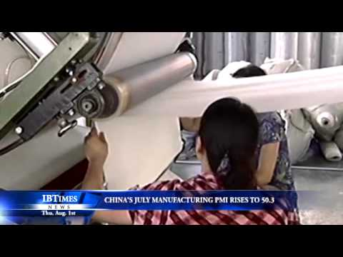 Chinas July Manufacturing PMI Rises To 50.3