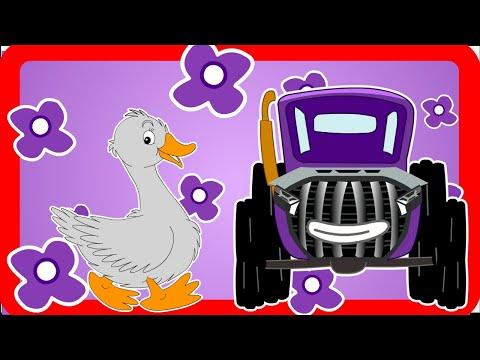 Синий трактор едет к нам на дороге шум и гам! Прямой эфир песенок про трактор и паровозик чух-чух!